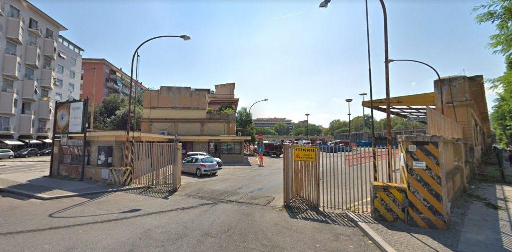 Il deposito Atac di piazza Bainsizza
