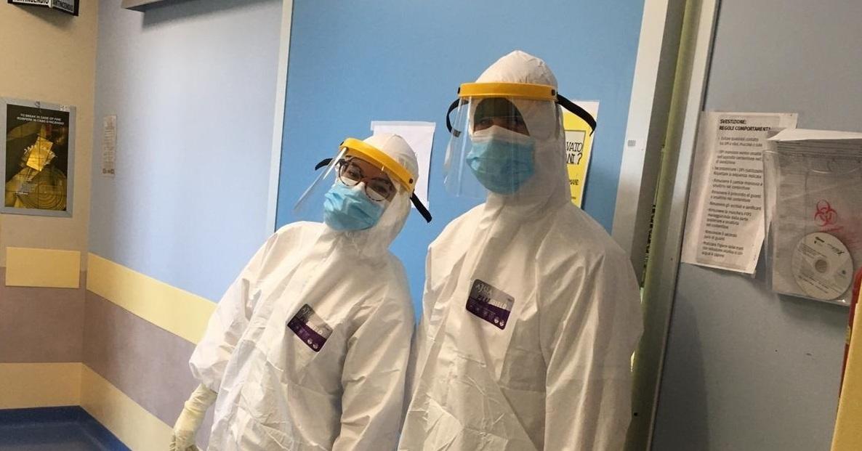 Francesco, 28 anni, infermiere del reparto Covid all'Ospedale Sant'Andrea di via Grottarossa
