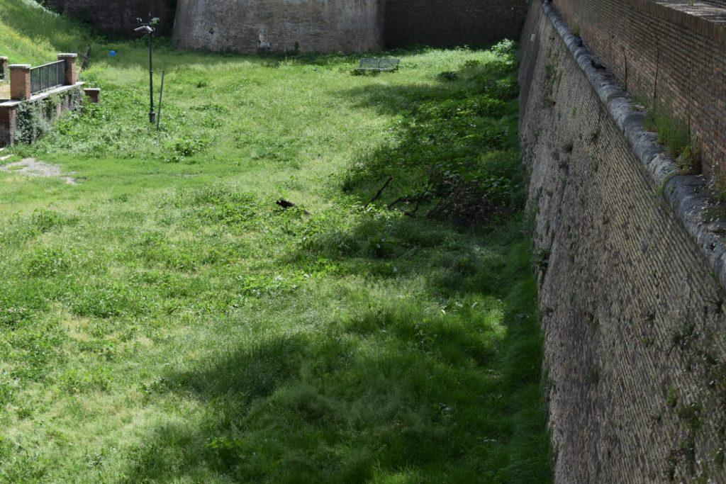 Il fossato di Castel Sant'Angelo