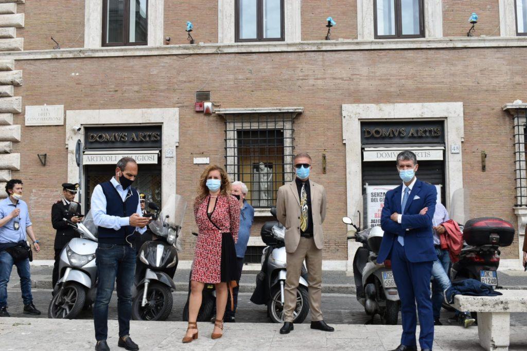 Da sinistra: Giulio Anticoli, Ilaria Bussiglieri, Stefano Rossetti, Francesco Lisanto Fischietti