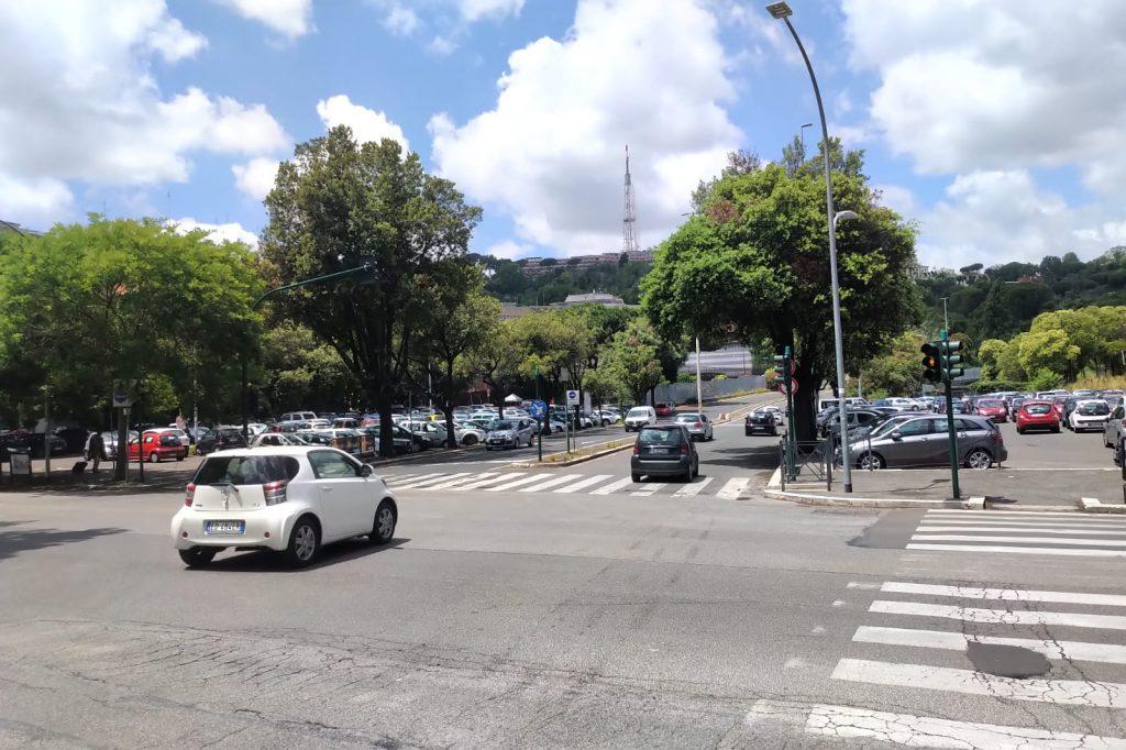 L'ingresso alla Panoramica da piazzale Clodio
