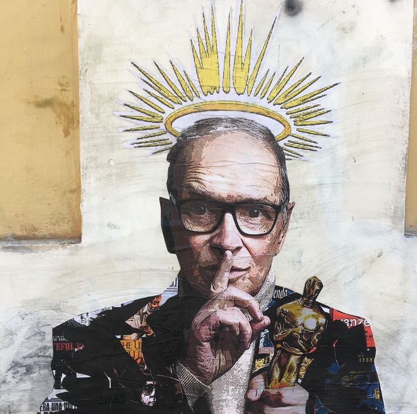 Ennio Morricone: a Trastevere spunta un murale in sua memoria