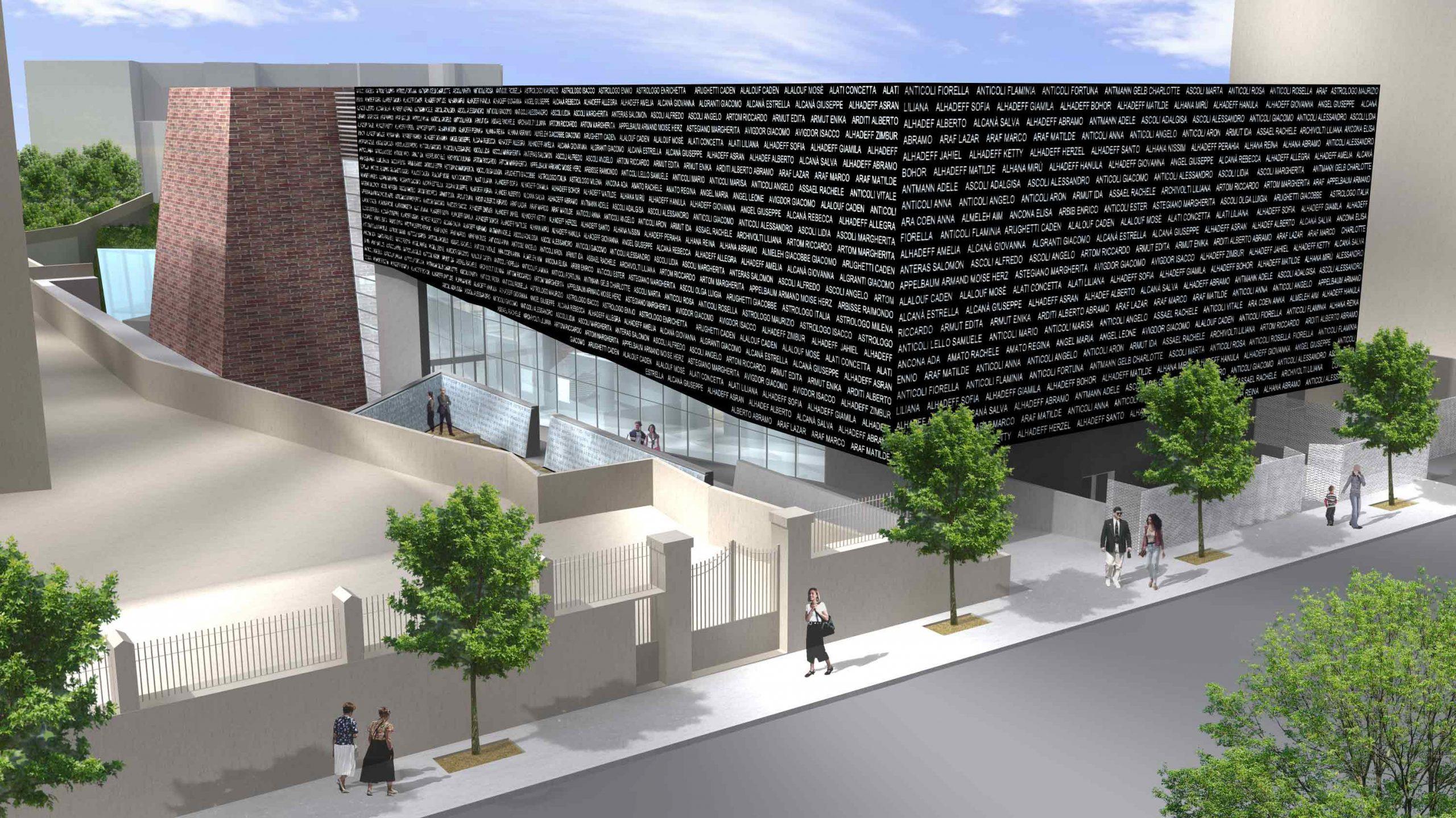 Un rendering del museo della Shoah