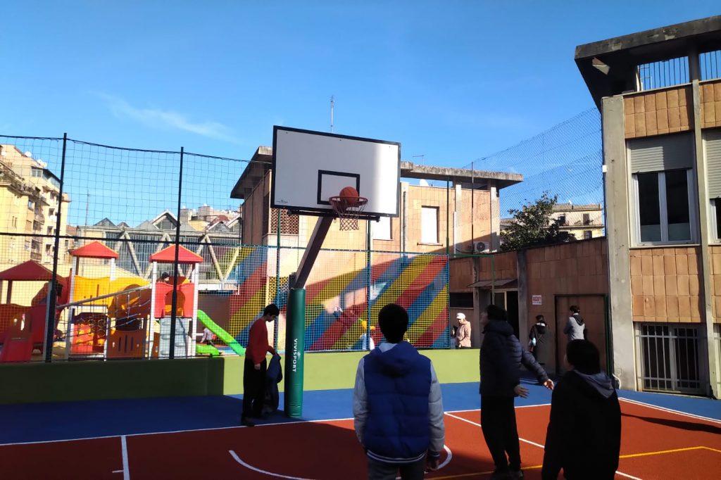Il campo da basket dell'oratorio San Giuseppe al Trionfale