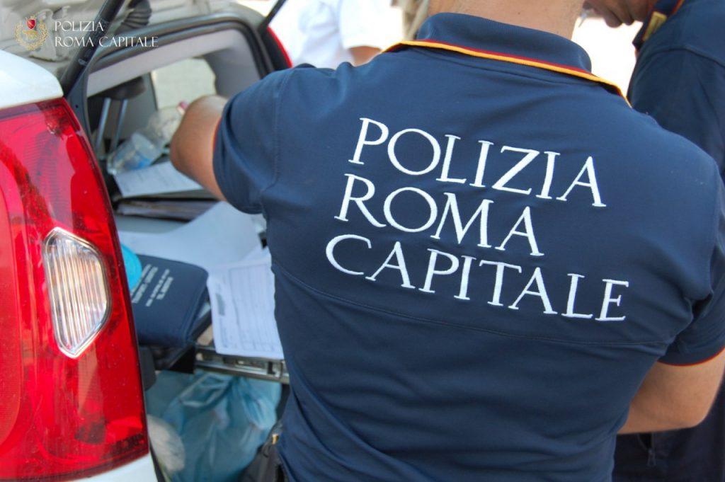 L'intervento della Polizia locale di Roma Capitale