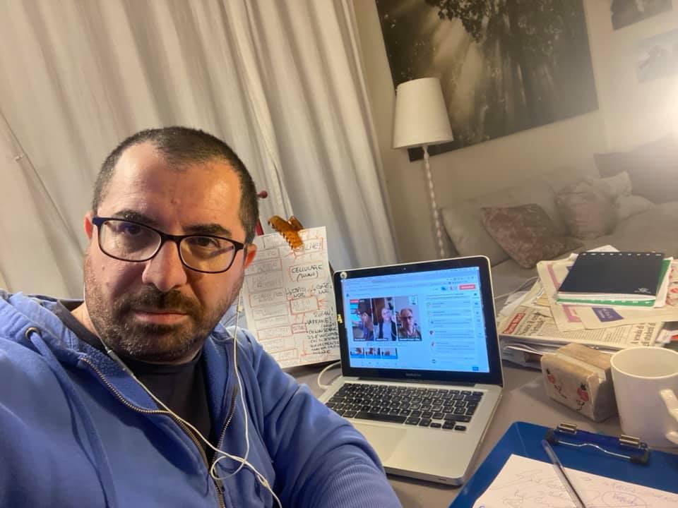 Renato Sartini, giornalista scientifico e portavoce dell'associazione Amici di Via Plava che ha in cura l'area verde di via Sabotino