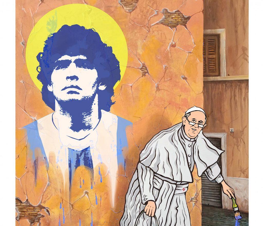 Maupal omaggia Maradona