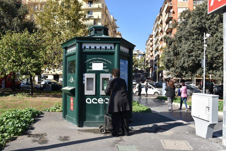 Casa dell'acqua alla metro Cipro
