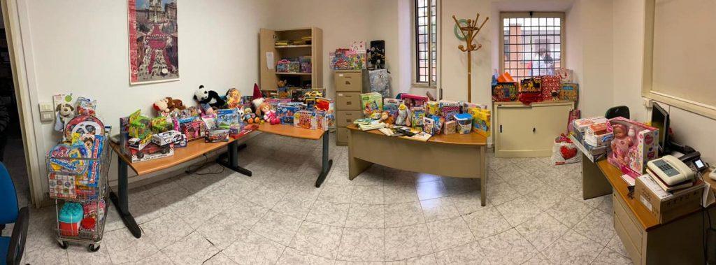 Tutti i giocattoli raccolti grazie all'iniziativa del I Municipio