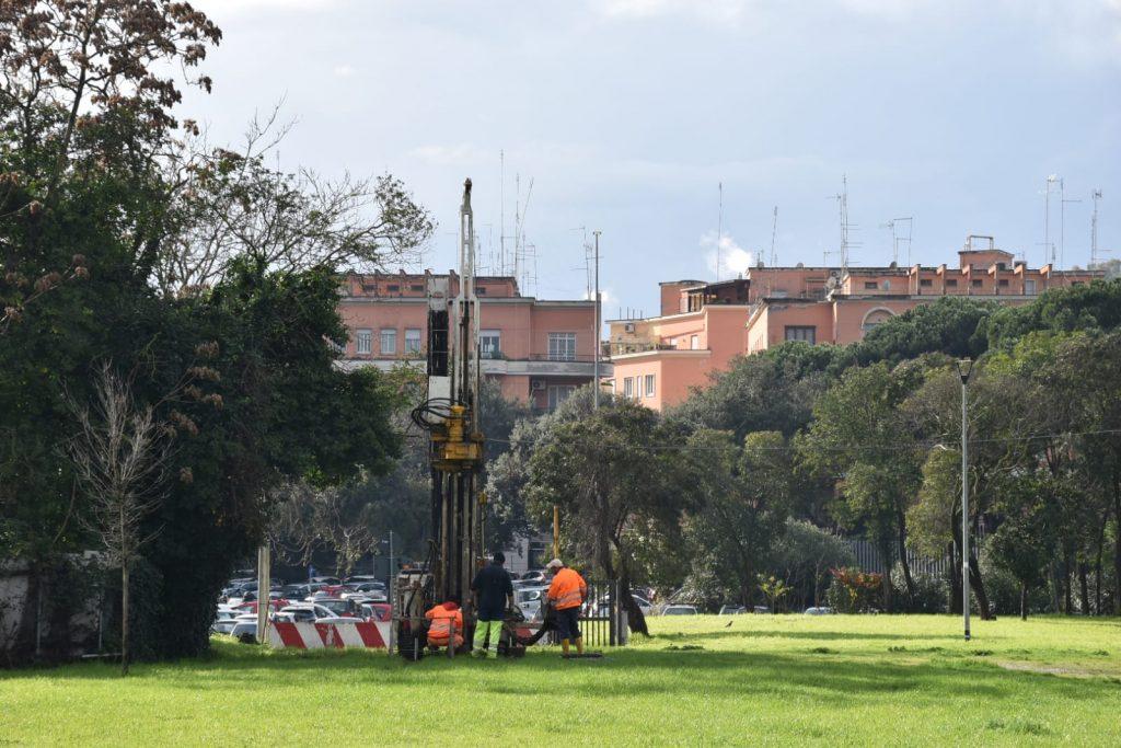 Carotaggi al parco di via Teulada