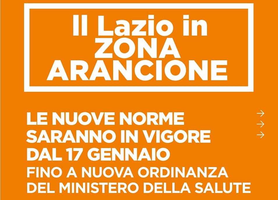Lazio in zona arancione. Il vademecum della Regione