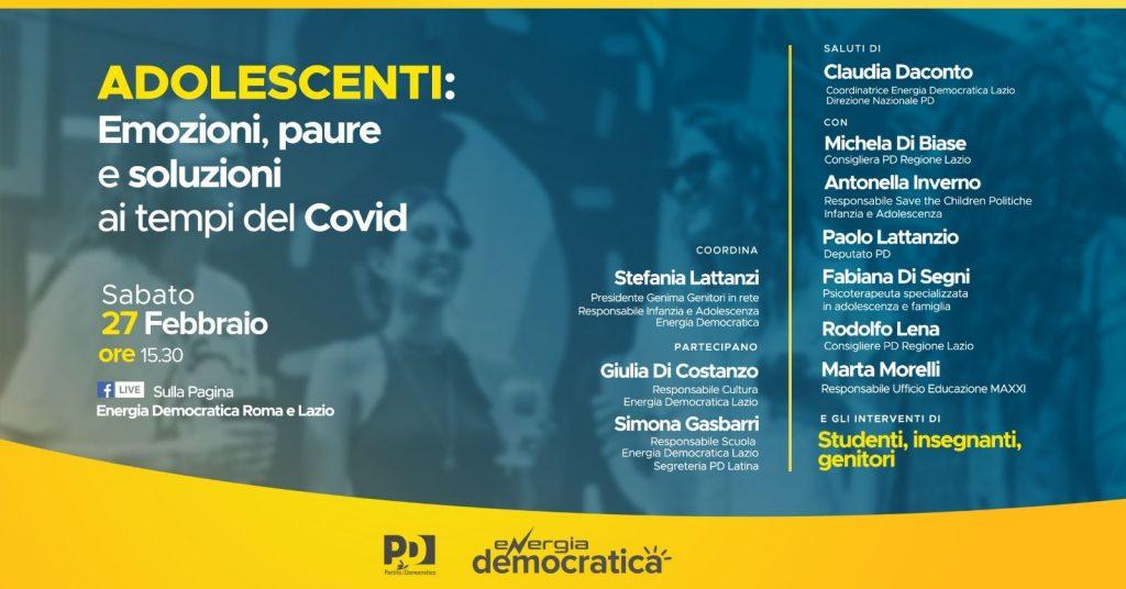 Covid Energia Democratica Organizza Un Convegno Sugli Effetti Negli Adolescenti Prati