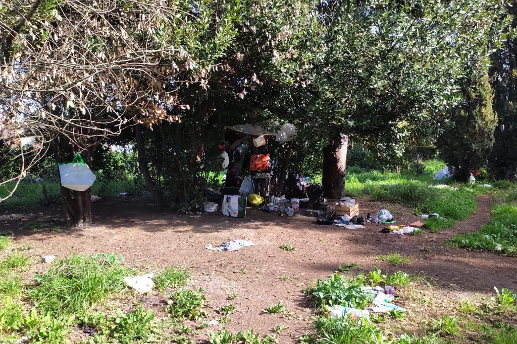 Accampamento in via Gomenizza