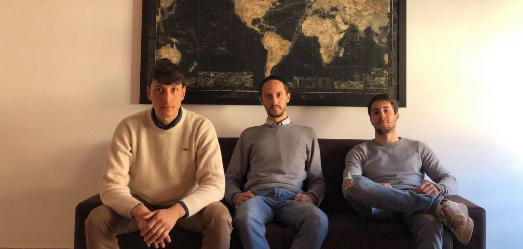 Alessandro Berardi (a sinistra) con i suoi amici-soci