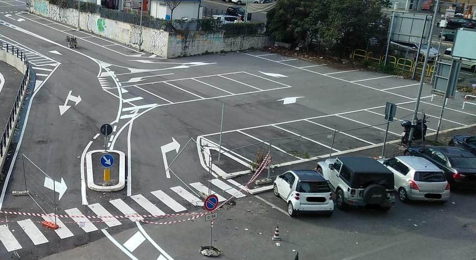 Il parcheggio di via di Bartolo