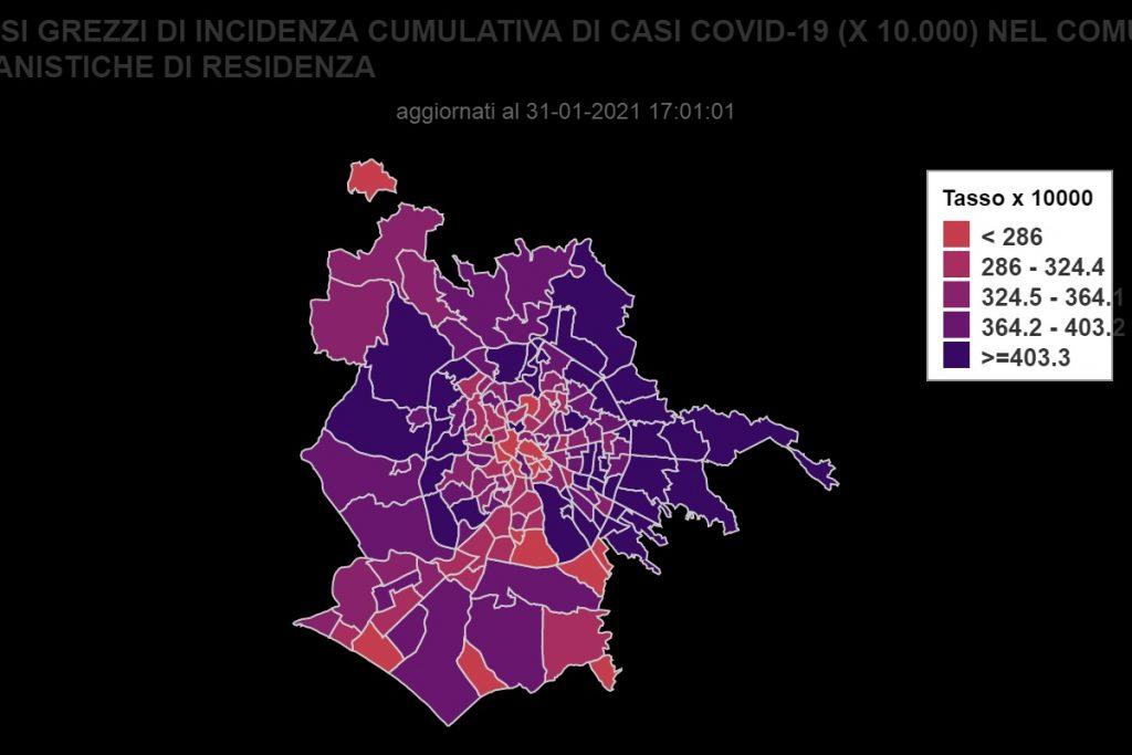 La mappa dei contagi da Coronavirus
