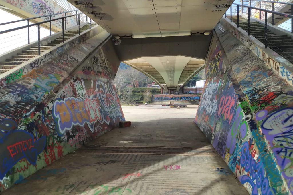 L'area sotto il Ponte della Musica