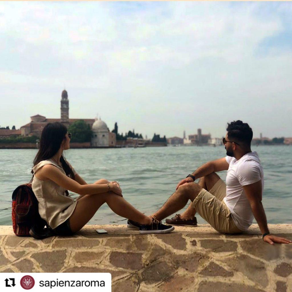 Serena Cosentino ed Hesam. Foto dal profilo Twitter dell'università La Sapienza