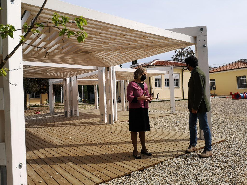 Sabrina Alfonsi e Giovanni Figà Talamanca alla scuola Leopardi