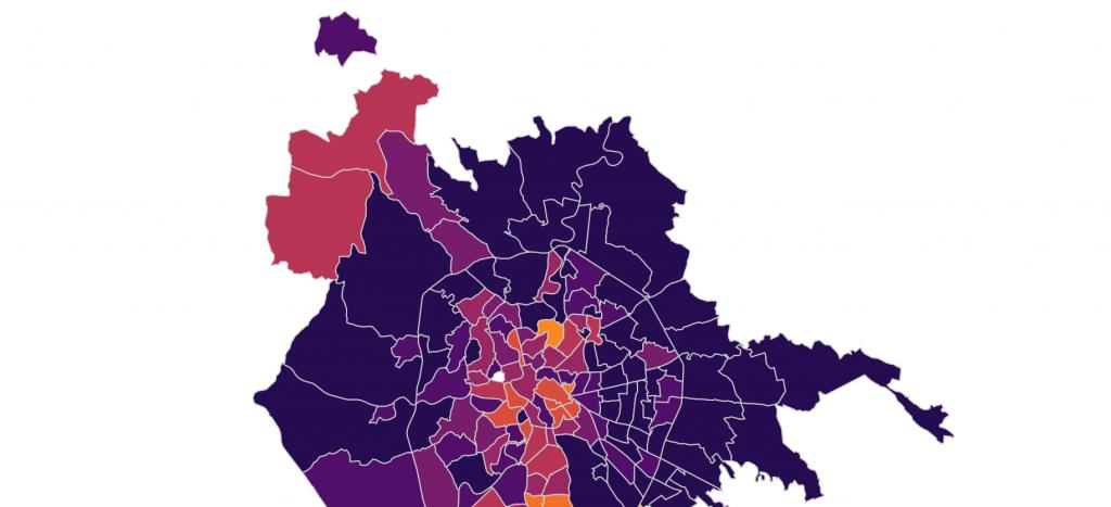 La mappa dei contagi