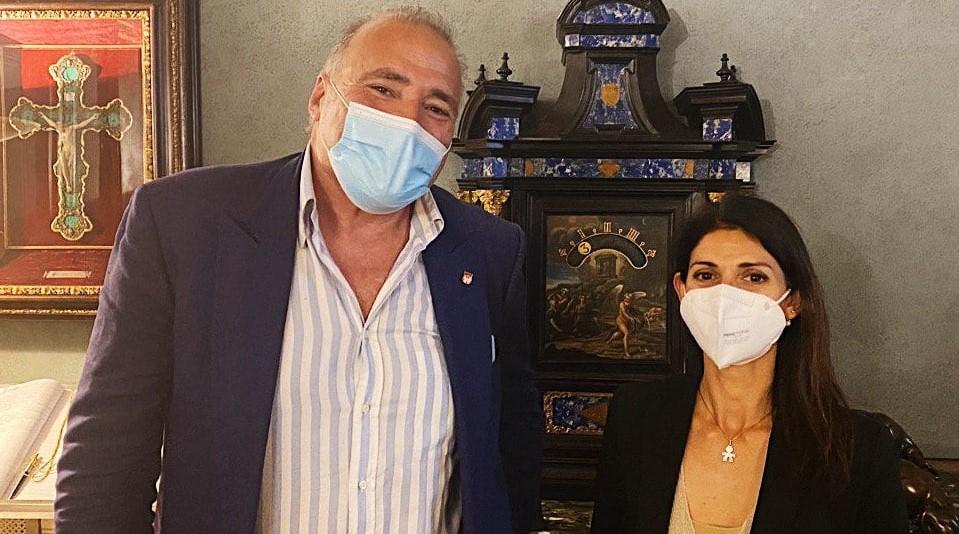 Marco Doria e Virginia Raggi