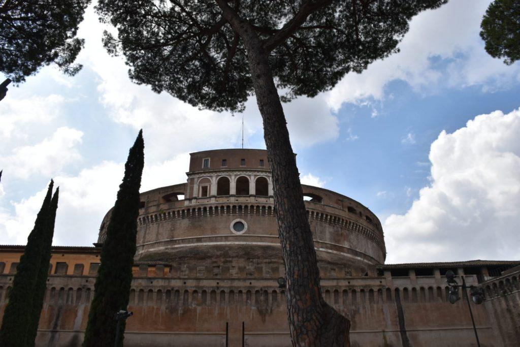 Un pino davanti a Castel Sant'Angelo