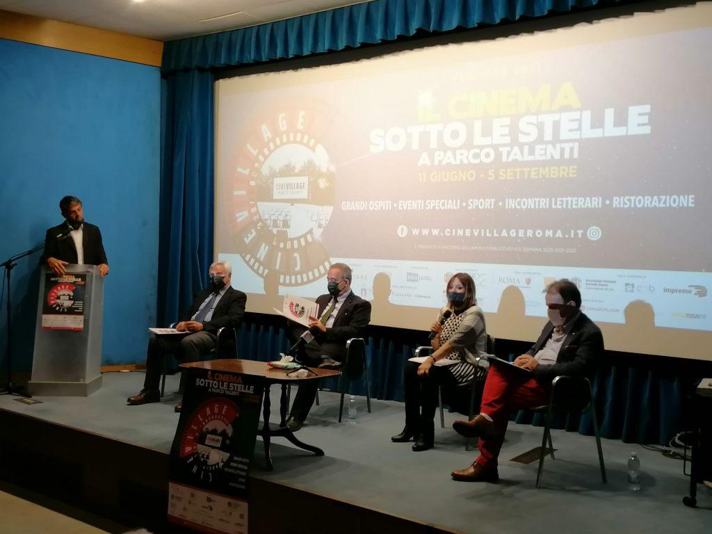 Conferenza stampa di presentazione del CineVillage Parco Talenti 2021