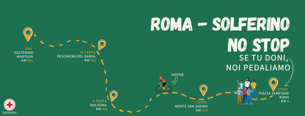 L'itinerario di Davide Mancini da piazza Sempione a Solferino