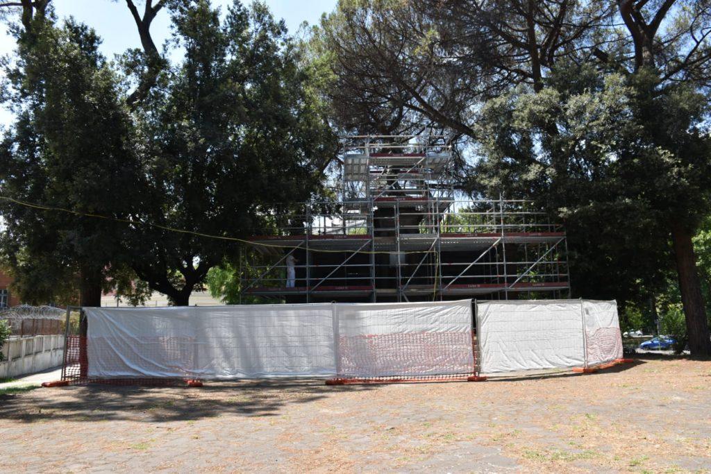 Il monumento al genio militare di piazzale Maresciallo Giardino