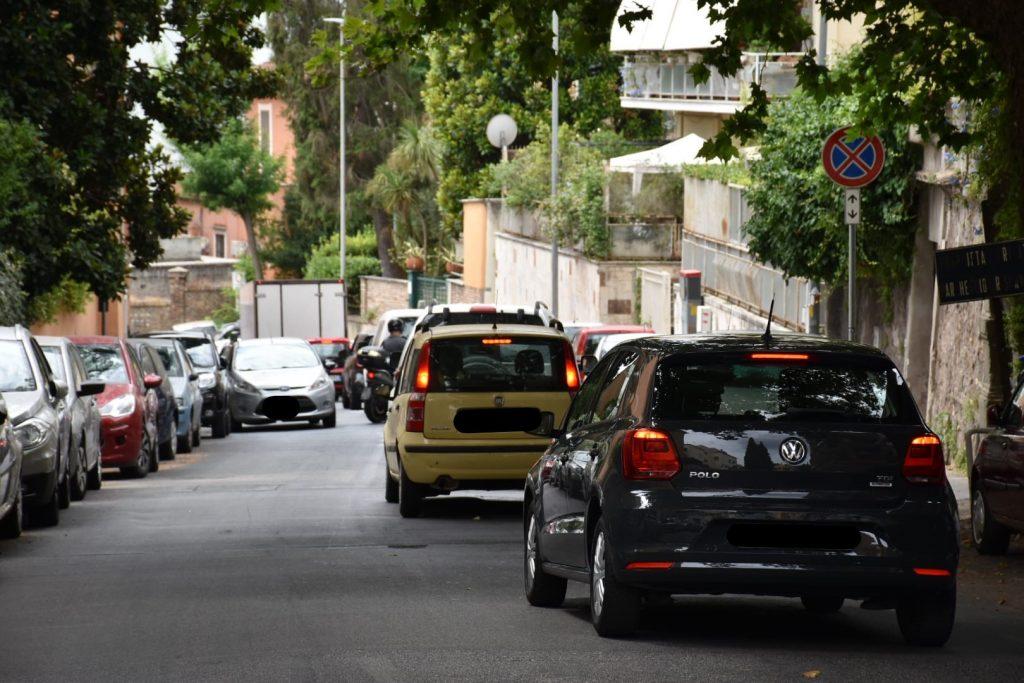 Traffico in via Trionfale