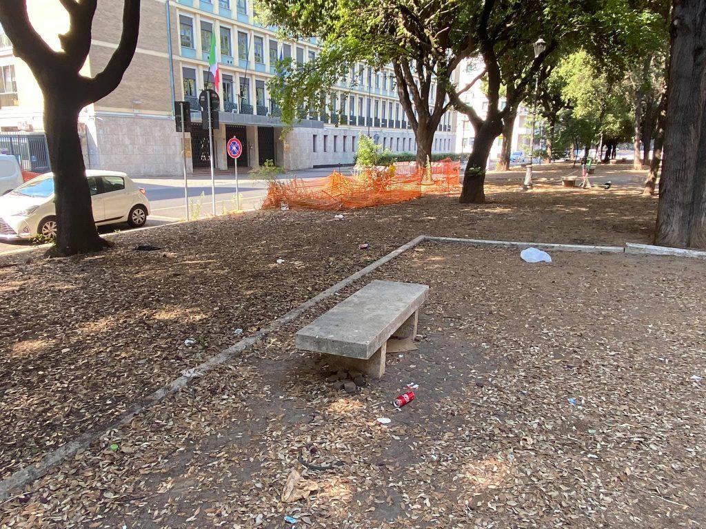 """Giardini di piazza Mazzini (foto di Patrick Monti dal gruppo Facebook """"Prati in azione!"""")"""