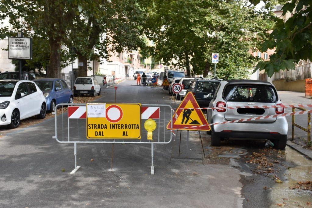 La chiusura di via Trionfale