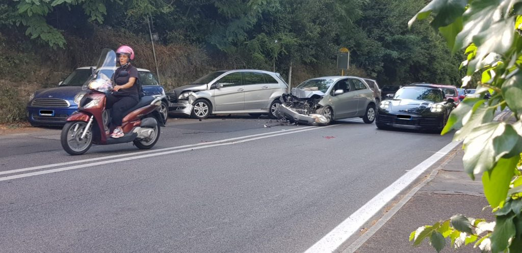 L'incidente in via della Camilluccia