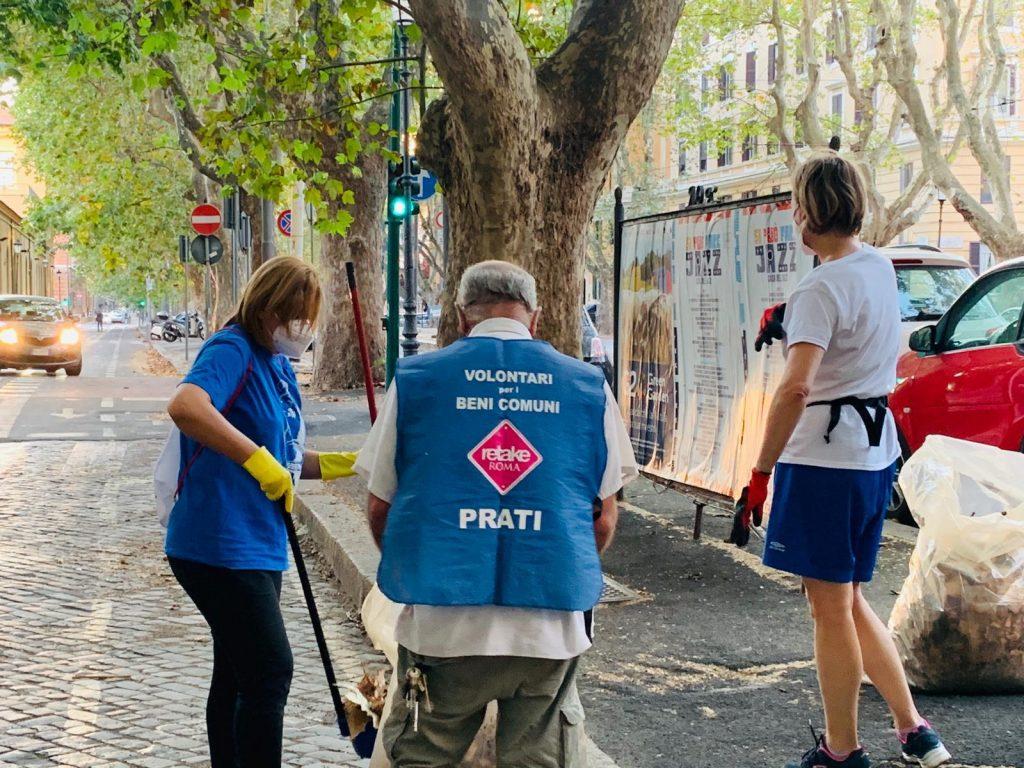 I volontari di Retake Roma Prati