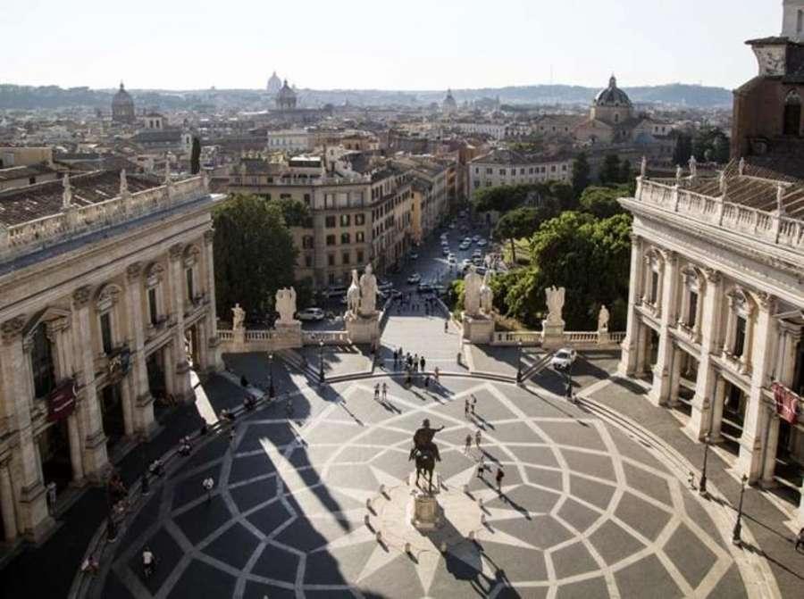 Piazza del Campidoglio, dove si trovano i Musei Capitolini