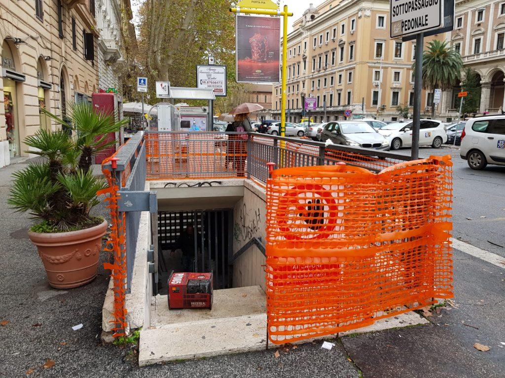 Il sottopasso di Porta Pia