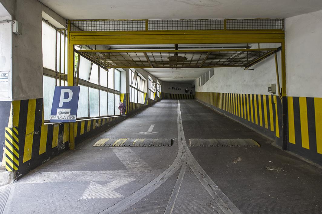 Il parcheggio del mercato di via Chiana