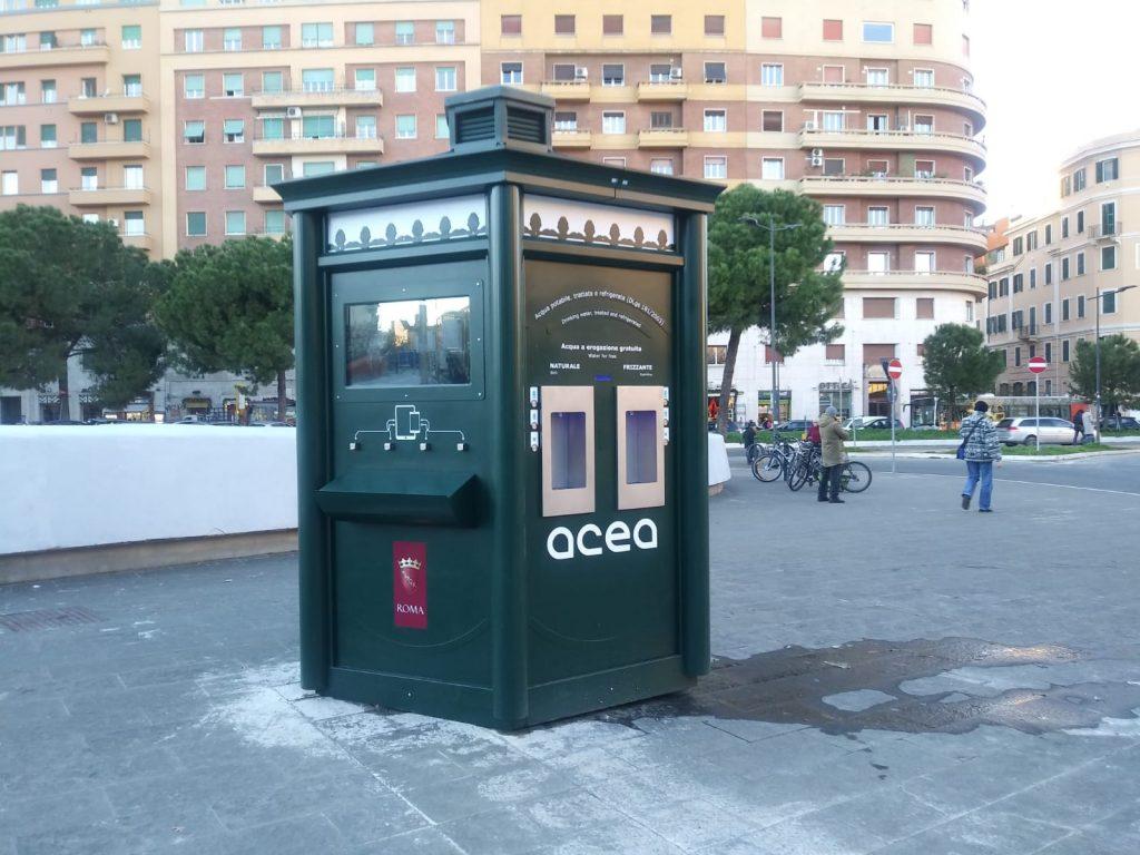 """La """"Casa dell'acqua"""" di Acea a piazza Annibaliano"""