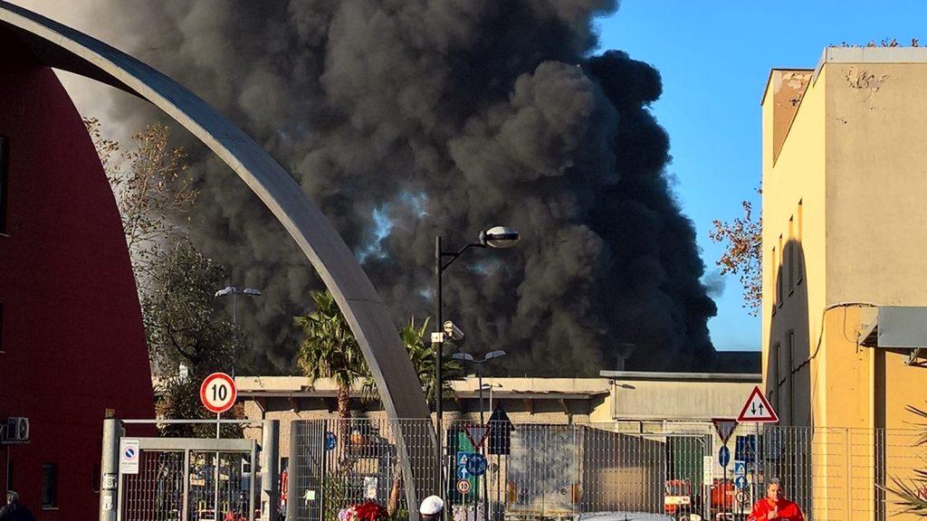 L'incendio al Tmb Salario