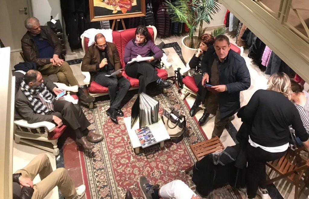 Un momento dell'incontro con i rappresentanti di Comune e Regione