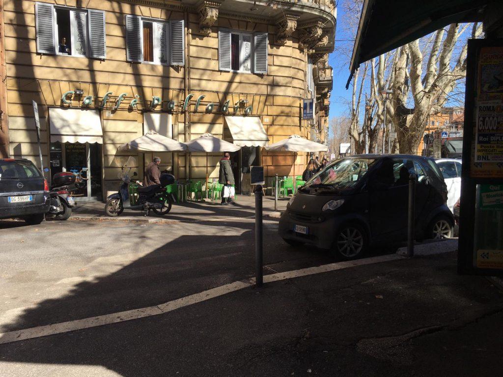 L'incrocio tra via Messina e via Nomentana