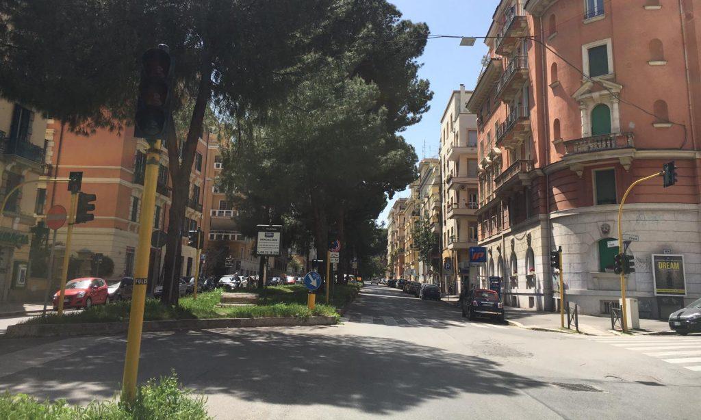 corso Trieste con semaforo disattivato