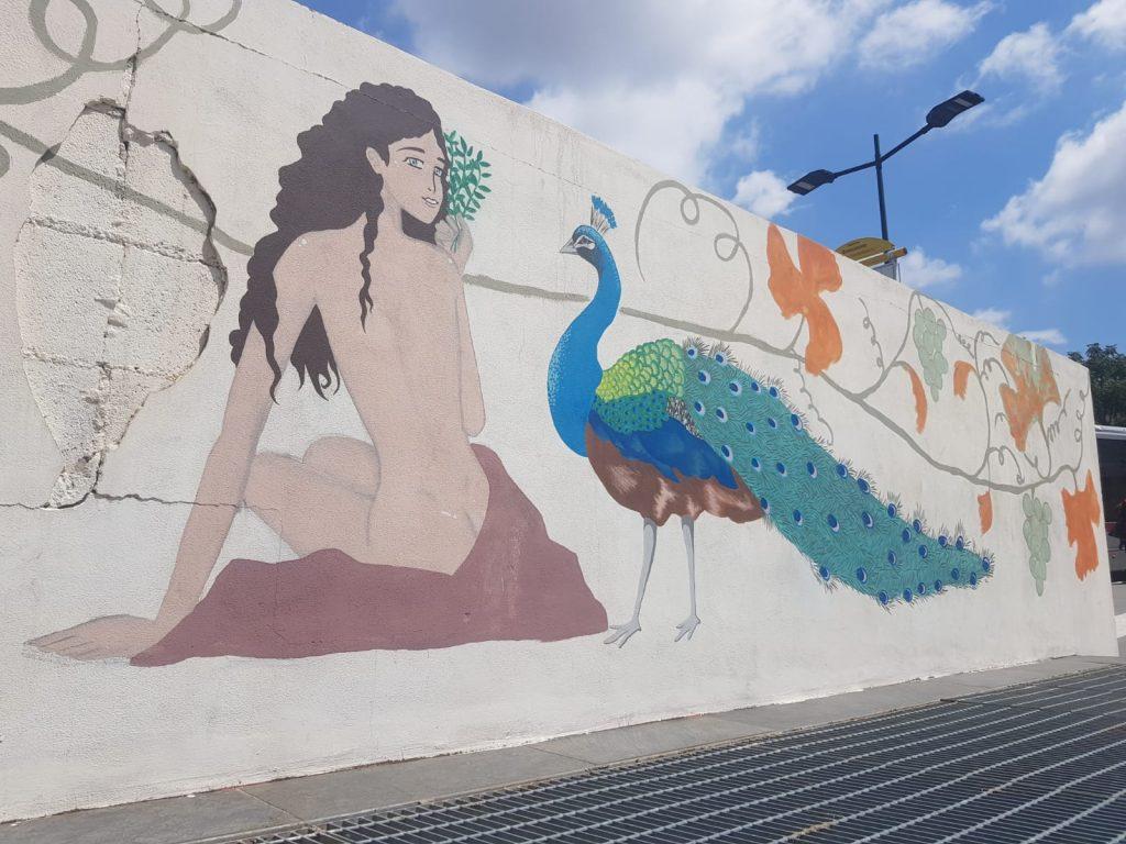 Il murales di piazza Annibaliano