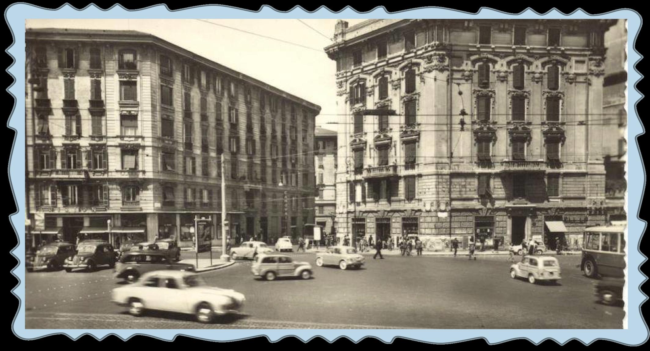 Una foto d'epoca di piazza Fiume