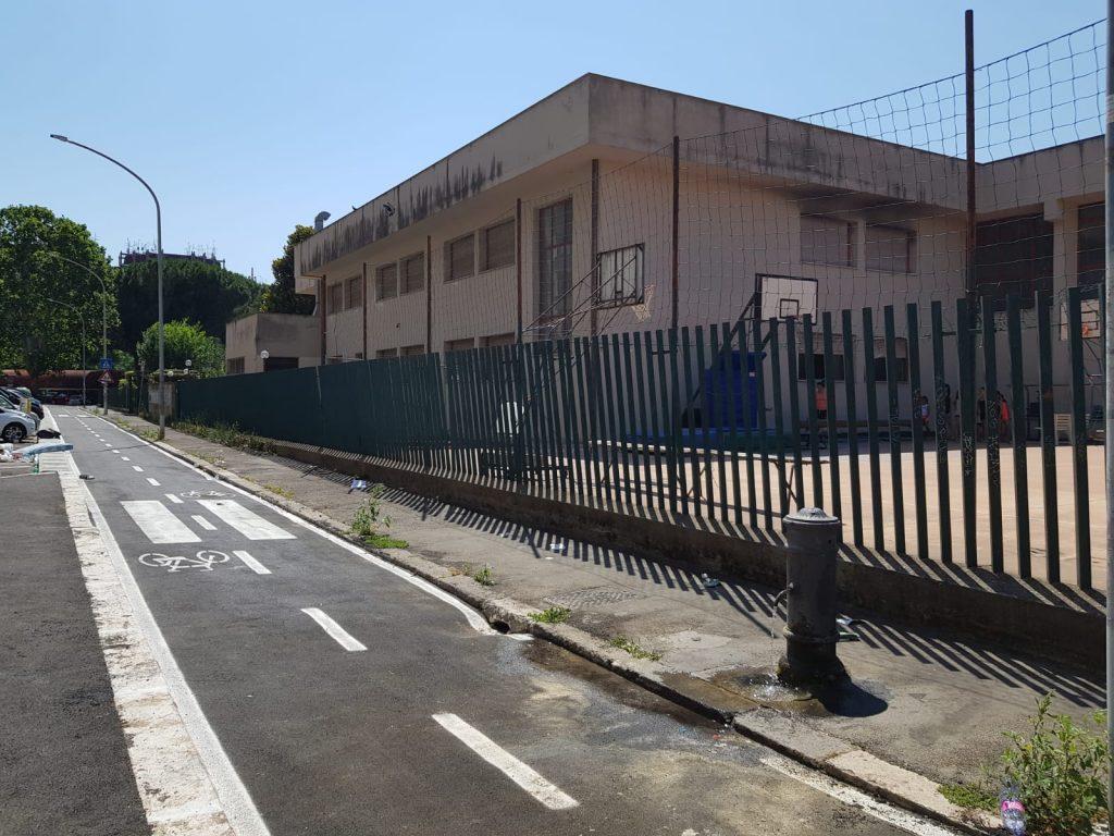 Il tratto della ciclabile Nomentana su via Valdarno