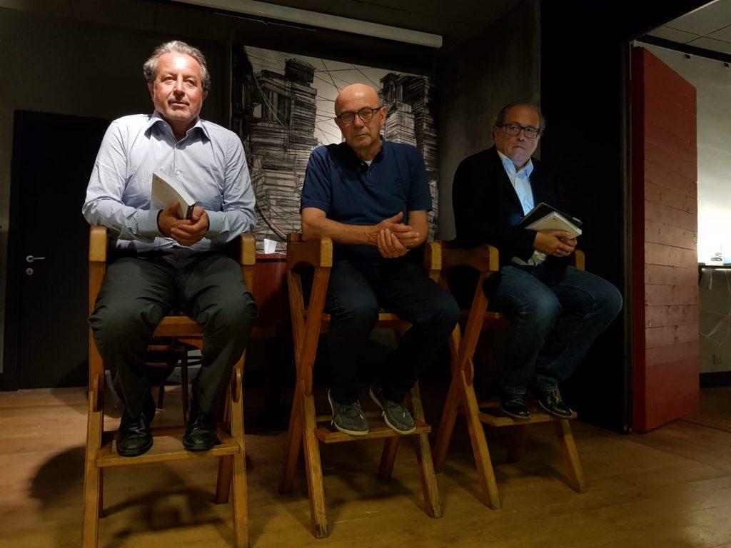 Paolo Bonacini insieme a Luigi Carletti e Stefano Tamburini