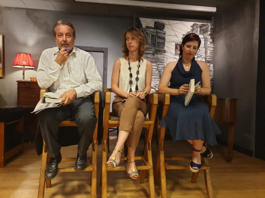 Il presidente di Typimedia, Luigi Carletti, insieme a Floriana Bulfon (al centro) e Daniela Mogavero
