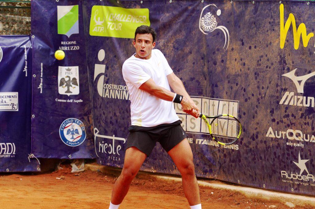 Gian Marco Ortenzi durante una partita