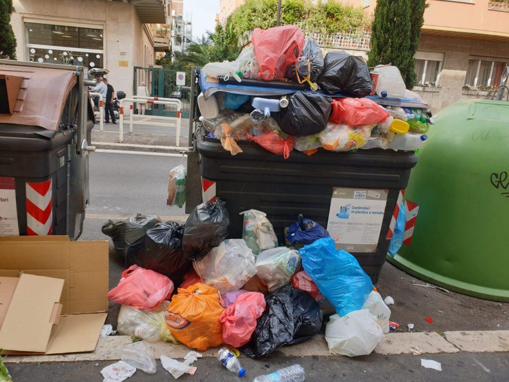 I rifiuti abbandonati lungo via Salaria