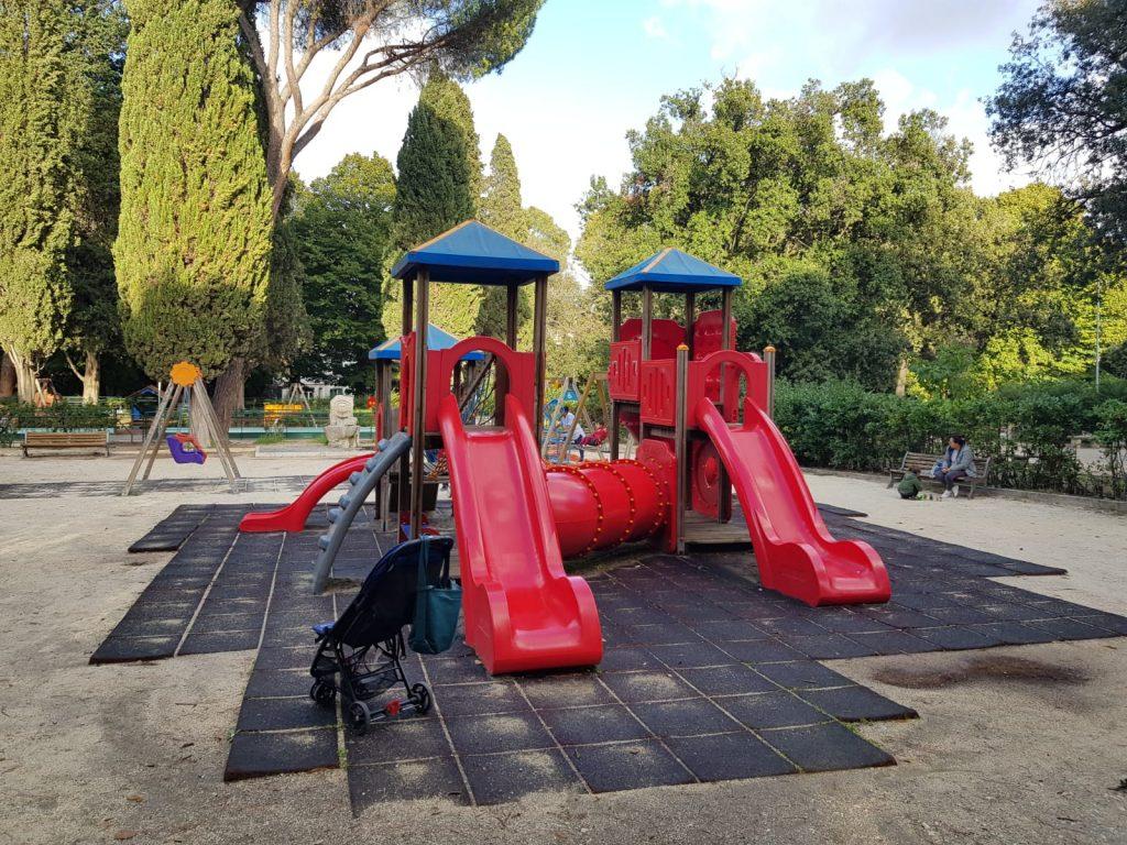 L'area giochi di Parco Nemorense